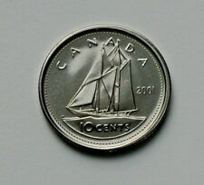 2001 P CANADA Elizabeth II Coin - 10 Cents - BU gem UNC (from PL mint set)