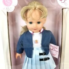 "NIB Gotz Doll Precious Day Girl Jessica 18"" Blonde Blue Sleeping Eyes 90's NRFB"