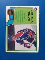 Wayne Gretzky Scoring Leader 1983-84 #217 O-Pee-Chee Hockey Card Edmonton Oilers
