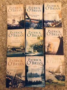 Patrick O'Brian collection of Jack Aubrey & Stephen Maturin novels Vol 1-9