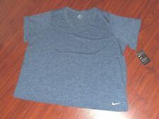 Nike Women's 3XL Plus Size Dri Fit Blue Short Sleeve Training Top NEW TAGS!!