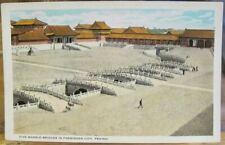Vintage CHINA Postcard FORBIDDEN CITY Palace Peking Beijing Five Marble Bridges