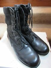 PAIR OF US ARMY BLACK JUNGLE BOOTS MEN'S SIZE 13 REGULAR MARINES ROTHCO