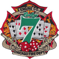 CHICAGO FIRE DEPARTMENT HOUSE PATCH: Engine 7, Lucky Number 7