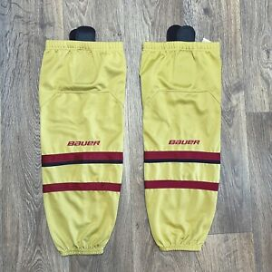 Bauer Team Ice Hockey Sock Gold with Red/Maroon and Black