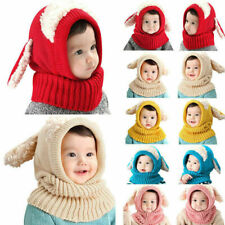 Baby Toddler Girls Boys Warm Hat Winter Beanie Hooded Scarf Earflap Cap Lovely