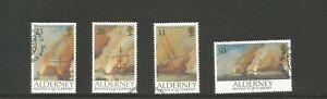Alderney 1992 300th Anniversary of Battle of La Hogue UMM Set SG A52/55