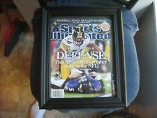 ORIGINAL 2008 SPORTS ILLUSTRATED LAMARR WOODLEY SIGNED COVER PITTSBURGH STEELERS