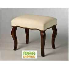 Elegant Traditional Bench Sturdy Beige Vanity Stool Seat Furniture Chair New!