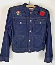 VTG 70s 80s Towncraft Kid's Embroidered Denim Jean Jacket Boys Penney's Size 10