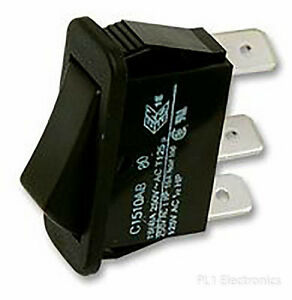 ARCOLECTRIC SWITCHES   C1510AB BLK   ROCKER SWITCH, SPDT, BLACK