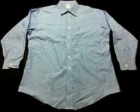 Brooks Brothers Mens Blue Striped Long Sleeve Button Front Shirt Size 17 1/2- 34