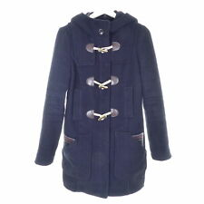 S.OLIVER Dufflecoat Mantel Blau Wolle Gr. 36 S