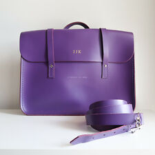 THE CAMBRIDGE SATCHEL COMPANY 'the music bag' purple leather shoulder strap