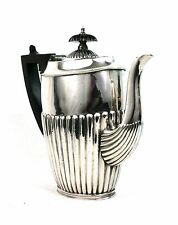 Antique Silver Plated Teapot Ebony Handle EPBM c.1910 John Round & Son