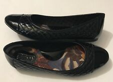 Born Loafer Slip On Quilt Black Patent Leather Dress Casual Flat Eu 38 US 7 M