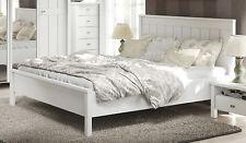 Landhaus Bett Doppelbett Ehebett weiß supermatt 180x200cm Neu 215349
