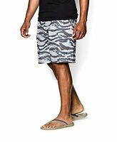 Under Armour Hydro Shorts 1244207 White Deceit Fish Swim Golf Board Mens New 30