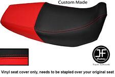 Vinilo Negro y Rojo automotriz Personalizado SE AJUSTA a HONDA Xr 125 03-12 Dual Cubierta de asiento solamente