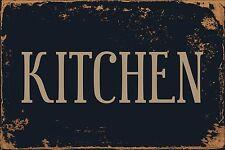 "Kitchen 8"" x 12"" Vintage Aluminum Retro Metal Sign VS489"