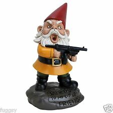 Angry Little Garden Gnome by BigMouth Inc Naughty Garden or Indoor Gift  NEW