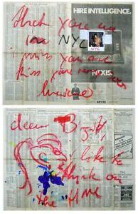 Luciano Castelli - Fotografie und Gemälde auf Zeitungspapier - signiert - 1983