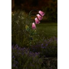 Smart Solar Foxglove Stake Lights Garden Ornament Decoration Flower Pink