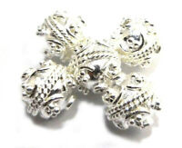 40 PIECES 7X4MM BALI BEAD CAP STERLING SILVER PLATED 274 G31-C372