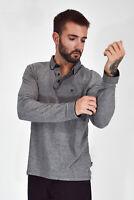 WRANGLER Polo Shirt Maglia Grigia Manica Lunga In Cotone Cotton TG XL Uomo Man