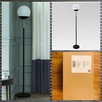 Project 62 Globe Head Brass Black Floor Lamp Energy Efficient Light Bulb 7w LED