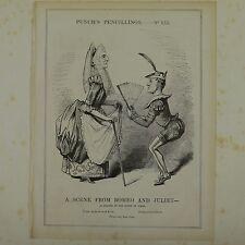 17.8x25.4cm punch dibujos 1843 UNA ESCENA DE ROMEO & JULIET wellington/brougham
