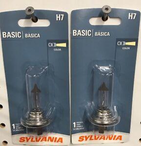 2 Sylvania H7 Basic Halogen HeadLight Lamp Bulb Replacement H7.BP