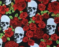 Day of the Dead Roses Skulls Bandana Head Band Scarf Gothic Biker Feeanddave