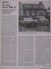 1973 Original Ford Consul 3000 GT Motor sport magazine road test