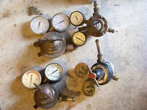 Lot Oxy Acetylene Regulator Gauge Victor Craftman National Cylinder Gas Dockson