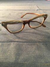 Vintage Women's Cat Eye Glasses Foremost 5 1/4 Frames Mcm Mid Century