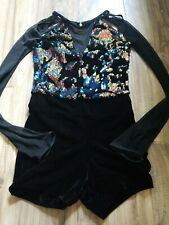 WEISSMAN Black Sequined Dance Costum Size SA Great Condition