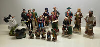 "HUGE McCormick Whiskey Decanter Collection Historical Figures Big 13"" Small 6"""