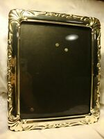 "Elegant Ornate Silver Tone Photo Frame 8""x 10"" Picture Black Felt Backing      4"