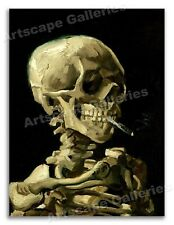 """1886 Van Gogh - """"Skull of a Skeleton with a Burning Cigarette Poster"""" - 18x24"""