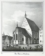 Libre montaña-dom-Saxonia-litografía 1834/1835