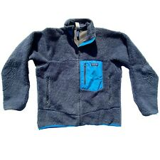 Vintage Patagonia Retro X Thick Deep Pile Cardigan Fleece M Made in USA 23 x 27