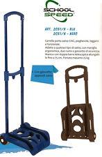CARRELLO Porta Zaino SPEED Scuola BLU Estensibile Ripiegabile Trolley 25 kg