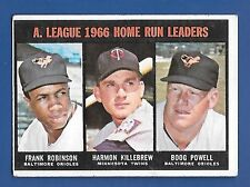 1967 Topps # 243 AL HR Leaders  F Roby Killebrew - VG/EX  additional ship free