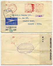 SOUTH AFRICA WW2 METER COVER, CLUBMAN GIN,CENSORED