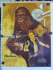 Original Chewbacca / Han Poster - STAR WARS BURGER KING COCA-COLA (1977) - MINT!