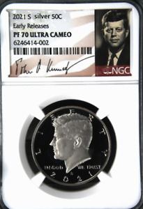 2021 S SILVER Kennedy Half Dollar NGC PF70 Early Releases - PRESALE