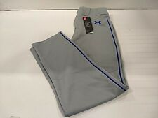Under Armour Utility Relaxed Piped Baseball Pants, Men's Large, Gray/Royal Blue