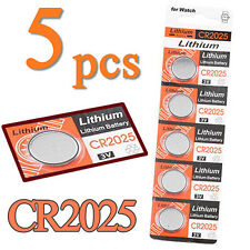 5Pcs CR2025 3V Volt Button Coin Cells Batteries for Remote Calculator Toy Frugal