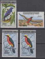 PP511 - MALI BIRDS STAMPS REPUBLIC DU MALI SG#17-20 OVERPRINTED MNH